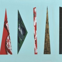 Frammenti, tecnica mista su tela, 80x100, 2009