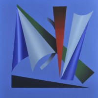Palcoscecnico 2, acrilico su tela,80x80, 2010
