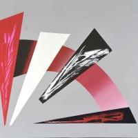 Palcoscenico 3, acrilico su tela tecnica mista, 80x80,2010
