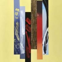 Palcoscenico 5, acrilico su tela tecnica mista su tela,80x100, 2010