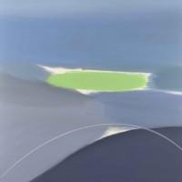 Paesaggio fantastico 1, tecnica mista su tela, 100x100, 2011
