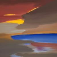 Tramonto, 2012, acrilico su tela, cm 120x100