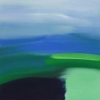 Sereno, 2011, acrilico su tela, cm 100x100
