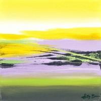Paesaggio fantastico 16, tecnica mista su tela, 20x20, 2011