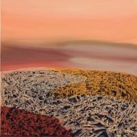 Paesaggio lunare, 2012, tecnica mista su tela, cm 100x100