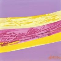 Paesaggio fantastico 20, tecnica mista su tela, 20x20, 2011