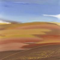 Paesaggio fantastico 2, tecnica mista su tela, 80x100, 2011