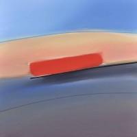 Paesaggio fantastico 10, tecnica mista su tela, 80x80, 2011