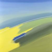 Paesaggio fantastico 4, tecnica mista su tela, 80x100, 2011