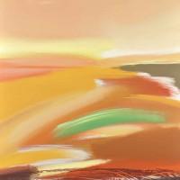 Paesaggio fantastico 5, tecnica mista su tela, 80x100, 2011