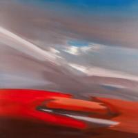 Pianeta rosso, 2012, acrilico su tela, cm 100x100