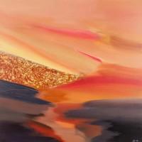 Luce, 2013, tecnica mista su tela, cm 100x100
