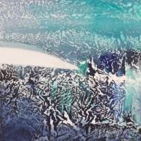 Glaciale, 2013, tecnica mista su tela , cm 60x60