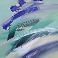 Il vento di primavera. tecnican.mista su tela, 70x100 2010
