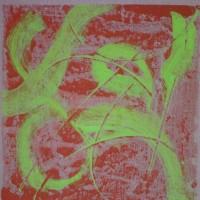 Oriente 7, tecnica mista su tela, 50x50, 2009