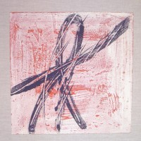 Oriente 9, tecnica mista su tela, 50x50, 2009
