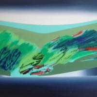 Orizzonte 1, tecnica mista su tela 70x100, 2008