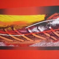 Orizzonte 2, tecnica mista su tela 70x100, 2008