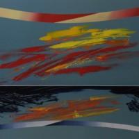Vento d' estate , tecnica mista su tela, 80x100,2010