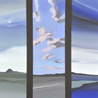 Viaggio nel mediterraneo 2, acrilico su tela, cm. 80x100, 2010