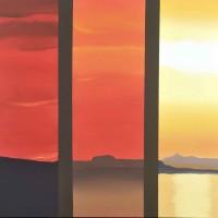 Viaggio nel mediterraneo 3, acrilico su tela, cm. 80x100, 2010