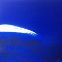 Verso l'infinito, 2014, tecnica mista su tela, 100x100